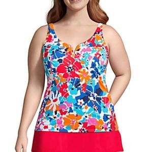 NWT Land's End Floral Tankini Top Size 26W